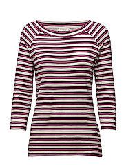 Shirt Short 3/4 Sleeve - DARK BLUE/PINK