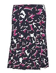 Skirt Medium Length Classic - DARK BLUE/PINK