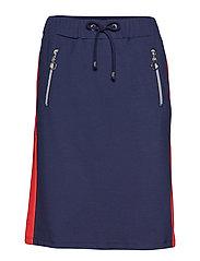 Skirt Medium Length Casual - PEACOAT BLUE