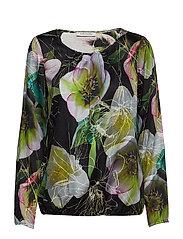 blouse - BLACK/GREEN