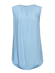 Blouse Long without Sleeve - PLACID BLUE