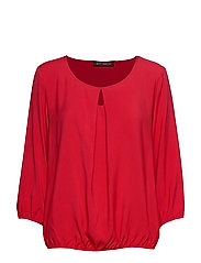 Blouse Short 3/4 Sleeve - RED SCARLET