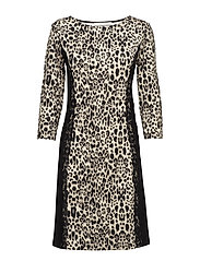 Dress Short 3/4 sleeve - BLACK-NATURE