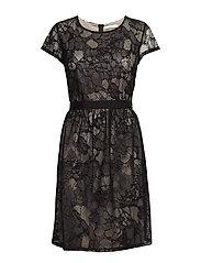 Dress Short 1/2 sleeve - BLACK