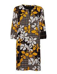 Betty Barclay Dress Short 3/4 sleeve - BLACK/YELLOW