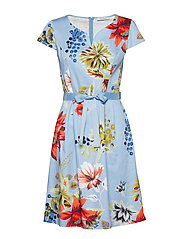 Dress Short 1/2 sleeve - BLUE/RED
