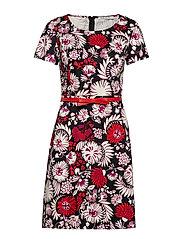 dress - BLACK/RED