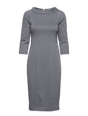 Dress Short 3/4 sleeve - DARK BLUE/GREY