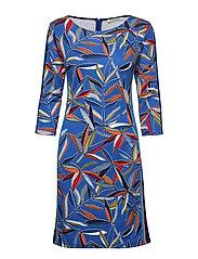 Dress Short 3/4 sleeve - BLUE/RED