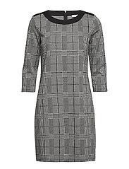 Dress Short 3/4 sleeve - BLACK/CREAM
