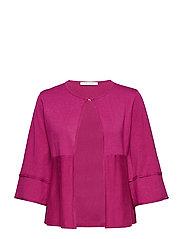 Knitted Jacket Short 3/4 Sleev - FESTIVAL FUCHSIA