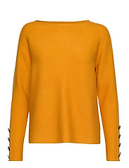 Knitted Pullover Short 1/1 Sle - GOLDEN GLOW