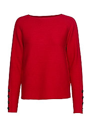 Knitted Pullover Short 1/1 Sle - RED SCARLET
