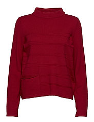 Knitted Pullover Short 1/1 Sle - CHILI RED