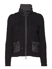 Knitted Jacket Short 1/1 Sleev - BLACK