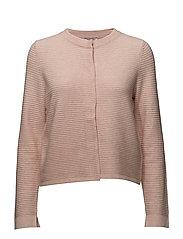 Knitted Jacket Short 1/1 Sleev - LIGHT ROSE MELANGE