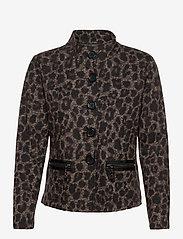 Betty Barclay - Blazer Jacket Short 1/1 Sleeve - colberts - black/taupe - 0