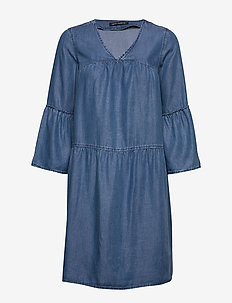 Dress Short 3/4 sleeve - jeansowe sukienki - light blue denim