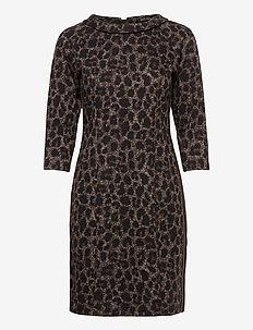 Dress Short 3/4 sleeve - robes courtes - black/taupe