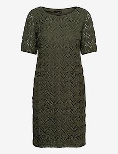 Dress Short 1/2 sleeve - robes d'été - dusty olive