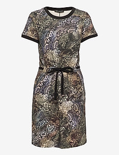 Dress Short 1/2 sleeve - everyday dresses - green/black
