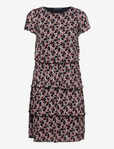 Dress Short 1/2 sleeve - everyday dresses - dark blue/brown