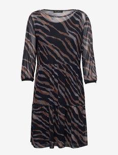 Dress Short 3/4 sleeve - everyday dresses - dark blue/grey
