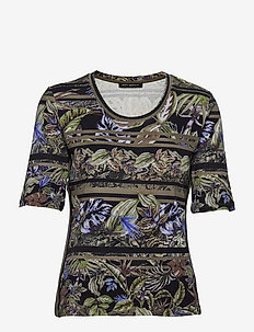 Shirt Short 1/2 Sleeve - t-shirts - green/black