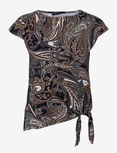 Shirt Short 1/2 Sleeve - short-sleeved blouses - dark blue/brown