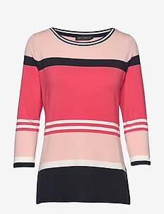 Shirt Short 3/4 Sleeve - striped t-shirts - red/dark blue