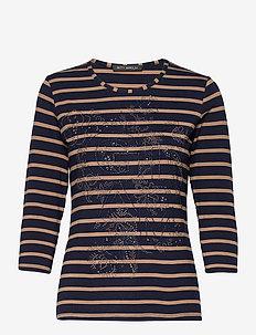 Shirt Short 3/4 Sleeve - hauts à manches longues - dark blue /camel