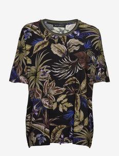Shirt Short 1/2 Sleeve - short-sleeved blouses - green/black