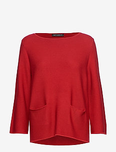 Knitted Pullover Short 3/4 Sle - RED SCARLET