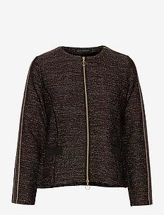 Blazer Jacket Short 1/1 Sleeve - blazere - black/brown