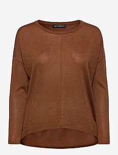 Knitted Pullover Long 1/1 Slee - gensere - brandy
