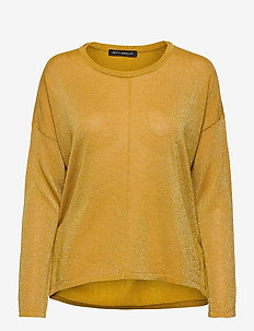 Knitted Pullover Long 1/1 Slee - gensere - golden glow