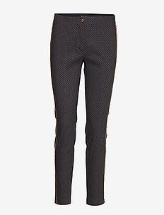 Pants Classic 1/1 Length - DARK BLUE/BROWN