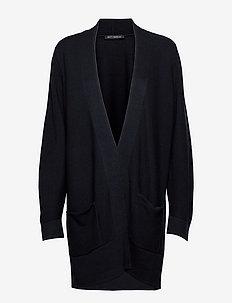 Knitted Jacket Long 1/1 Sleeve - cardigans - dark sky