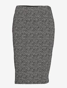 Skirt Medium Length Classic - BLACK/CREAM