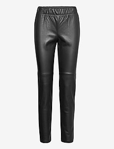 Pants Classic 1/1 Length - pantalons en cuir - black