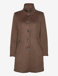Jacket Wool - wool jackets - hazelnut melange