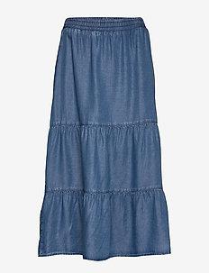 Skirt Medium Length Casual - denimskjørt - light blue denim