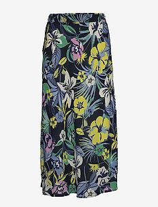Skirt Medium Length Classic - midi skjørt - dark blue/green
