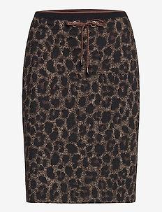 Skirt Medium Length Classic - jupes midi - black/taupe
