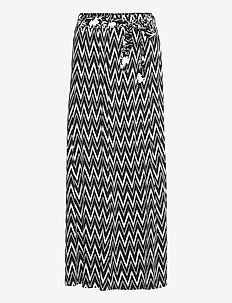 Skirt Long Classic - maxi nederdele - black/white