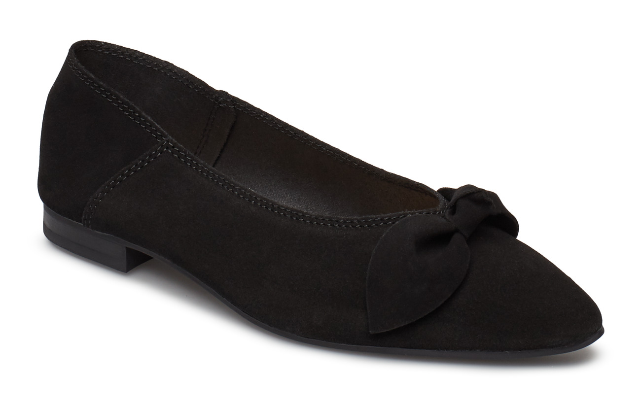 Bianco BIABERNA Suede Bow Shoe - BLACK 1
