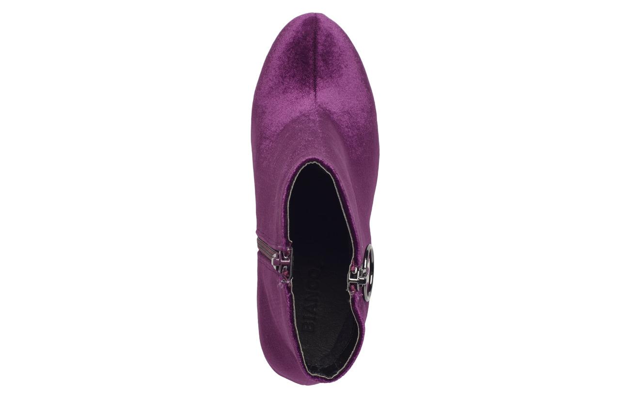 Boot Semelle Synthetic Cuir Bianco 100 Textile Heel Extérieure Intérieure Immi Empeigne Ankle Round Doublure Purple 07x7tz