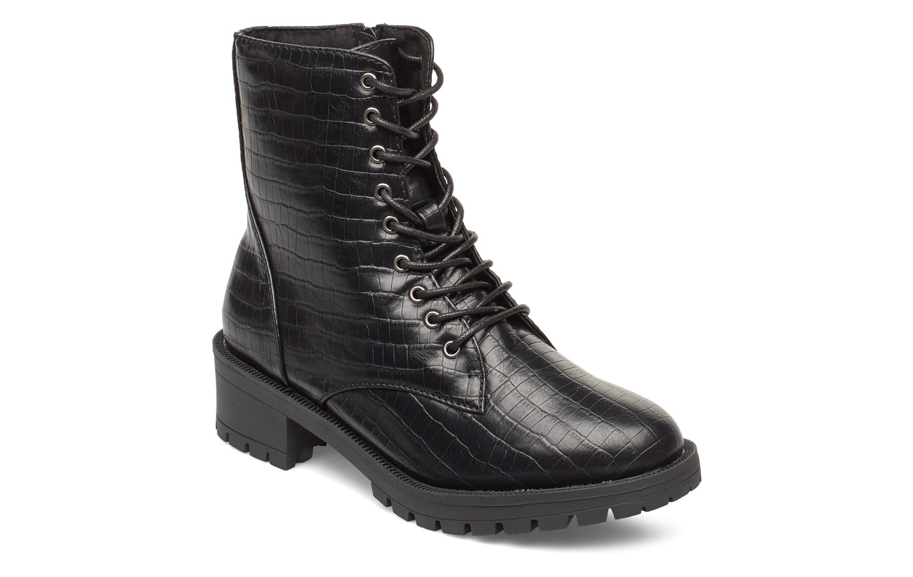 Bianco BIACLAIRE Laced-Up Boot - BLACK 9