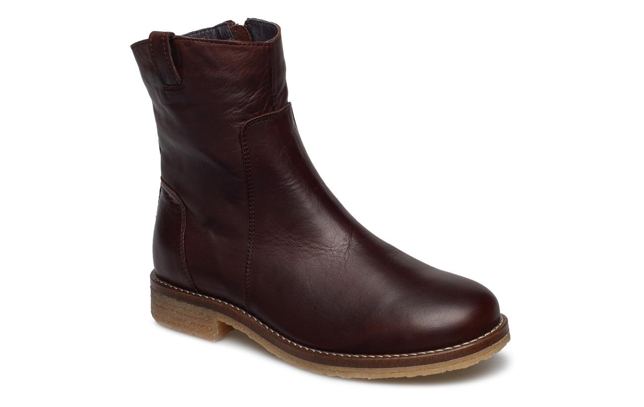 Bianco BIAATALIA Winter Leather Boot - DARK BROWN