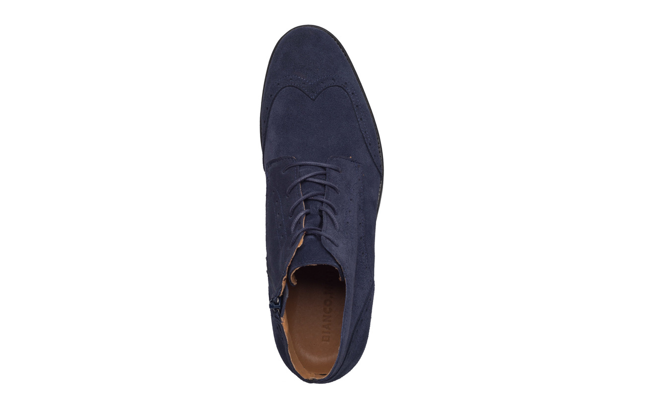 Dress Boot Blue Brogue Bianco Navy Daim Z8wTp5x